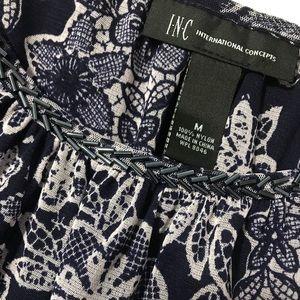 International concepts open shoulder blouse